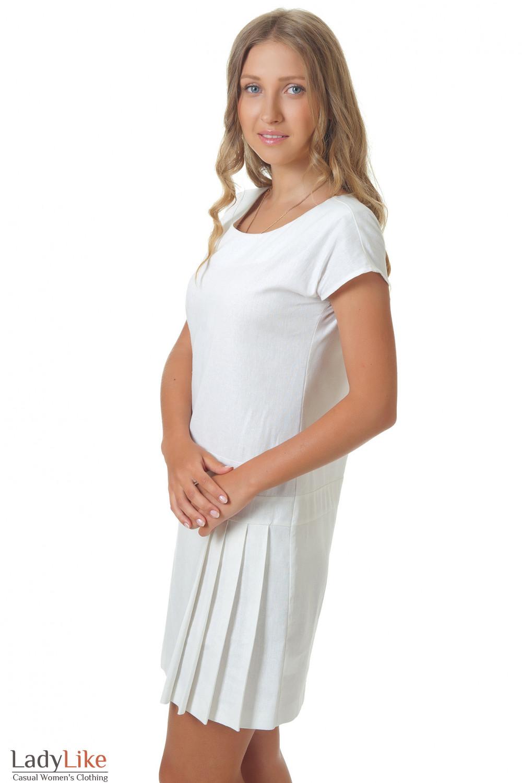 Купить лняное белое платье Деловая женская одежда