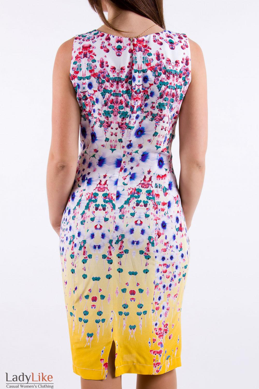 Фото Платье с принтом  Деловая женская одежда