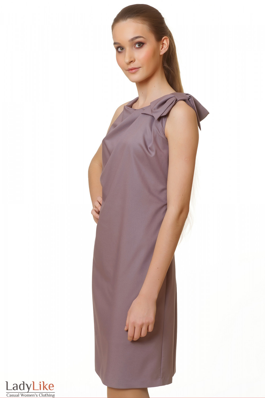 Купить платье приталенное с бантиком на плече Деловая женская одежда