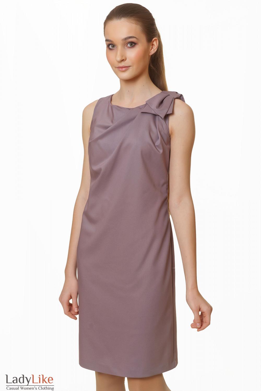Фото Элегантное коричневое платье Деловая женская одежда