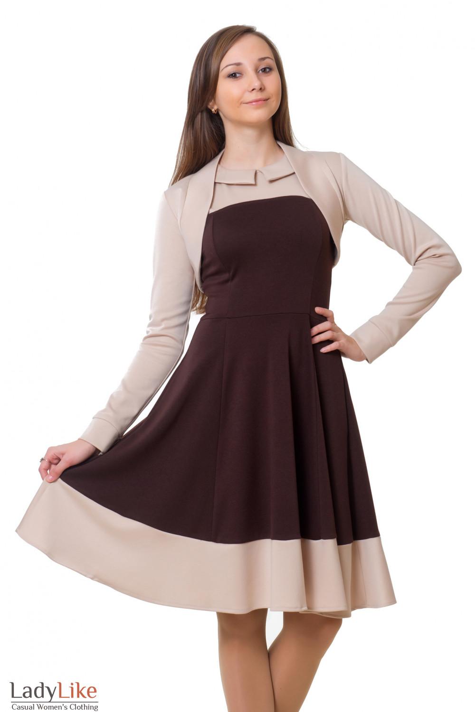 Коктельное платье с болеро Деловая женская одежда