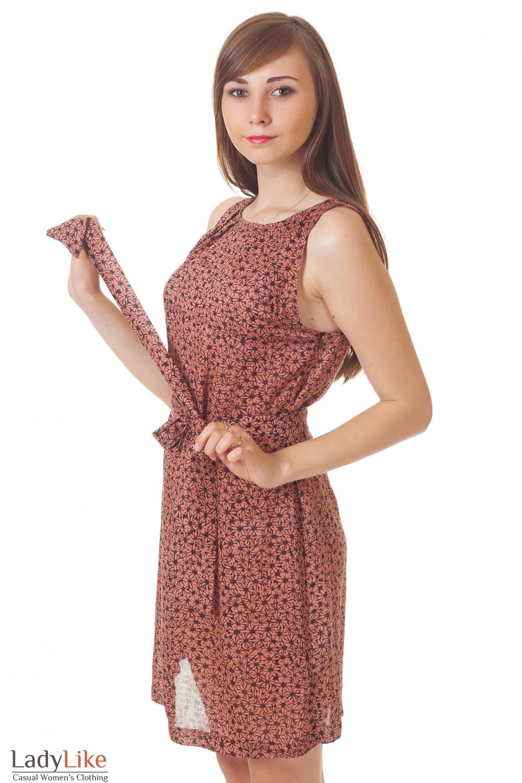 Купить летнее коричневое платье Деловая женская одежда