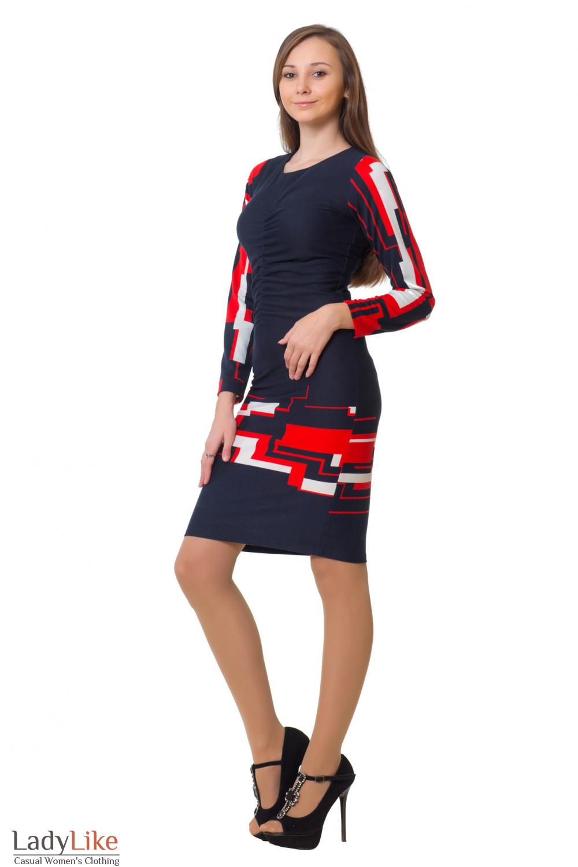 Купить платье со сборкой Деловая женская одежда