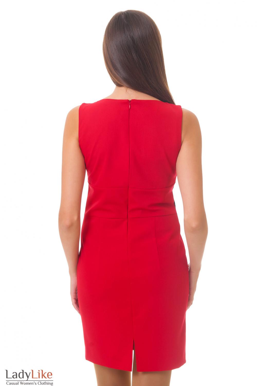Красное платье вид сзади Деловая женская одежда