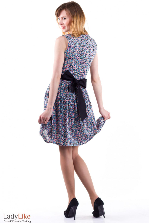 Фото Платье в цветочек Деловая женская одежда