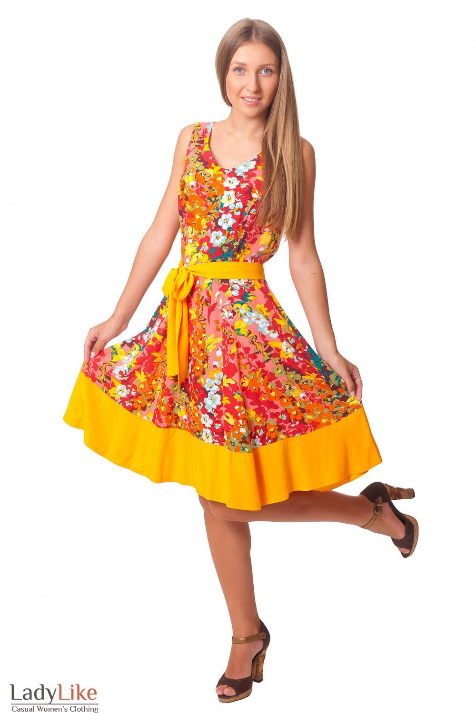Купить летнее цветное платье Деловая женская одежда