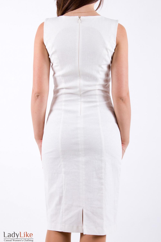 Фото Платье из льна Деловая женская одежда