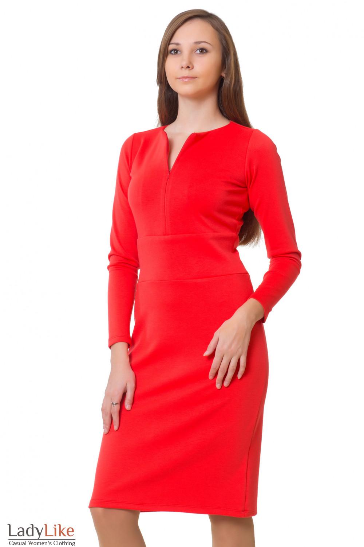 Трикотажное розовое платье Деловая женская одежда