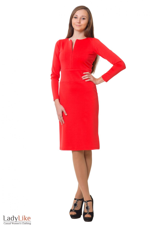 Купить платье из розового трикотажа Деловая женская одежда