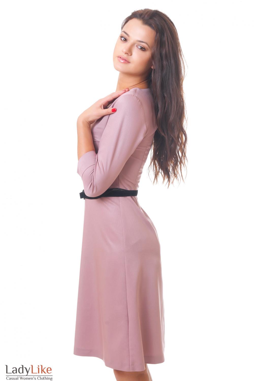 Купить платье с юбкой-трапецей Деловая женская одежда