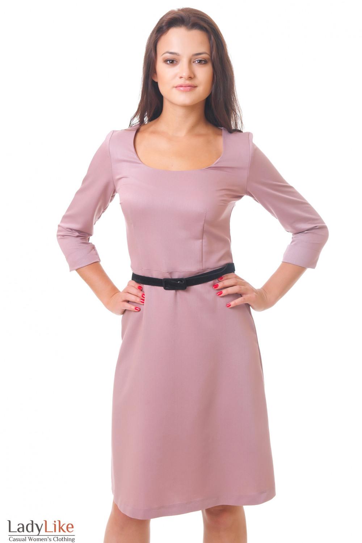 Классическое платье с юбкой-трапецией  Деловая женская одежда