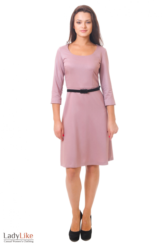 Платье с рукавом 3/4 Деловая женская одежда