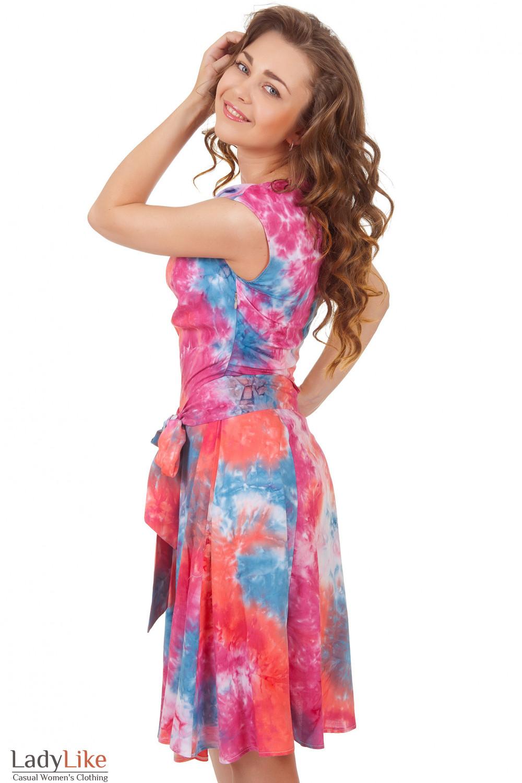 Купит платье с качелькой в розовые цветы Деловая женская одежда
