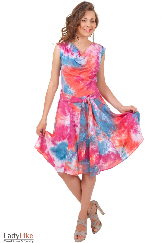Купить летнее платье с пышной юбкой Деловая женская одежда