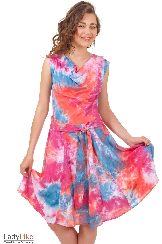 Купить платье летнее в цветы Деловая женская одежда