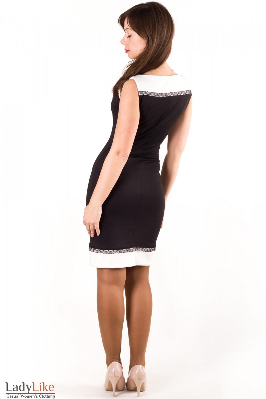 Фото Трикотажное платье Деловая женская одежда