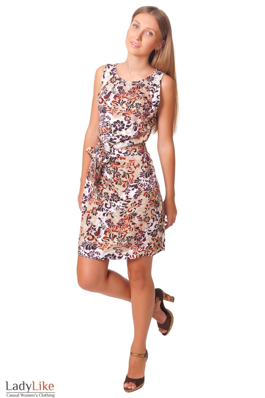 Платье летнее с защипами  Деловая женская одежда