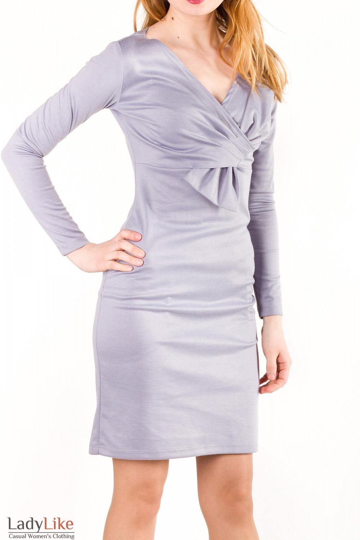 Купить серое платье Деловая женская одежда