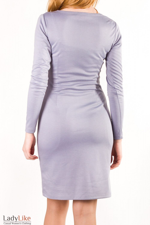 Трикотажное платье Деловая женская одежда