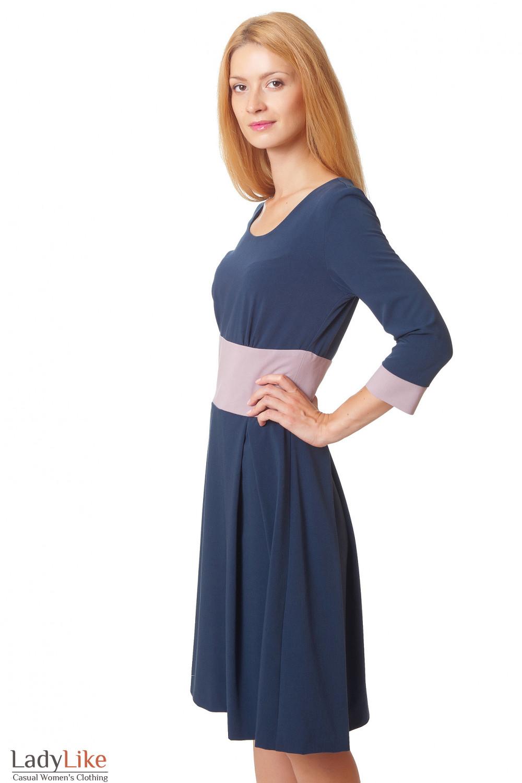 Купить платье с широким поясом Деловая женская одежда