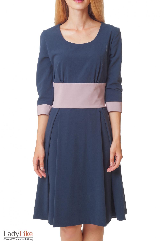 Купить деловое синее платье Деловая женская одежда