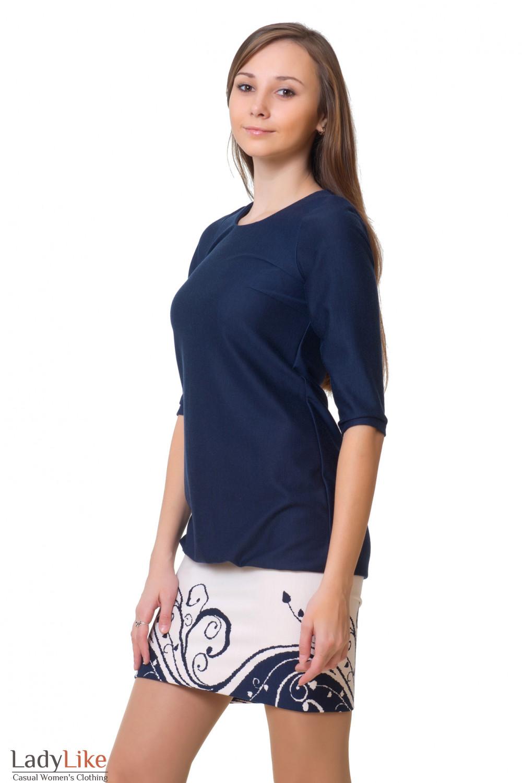 Купить короткое синее платье Деловая женская одежда