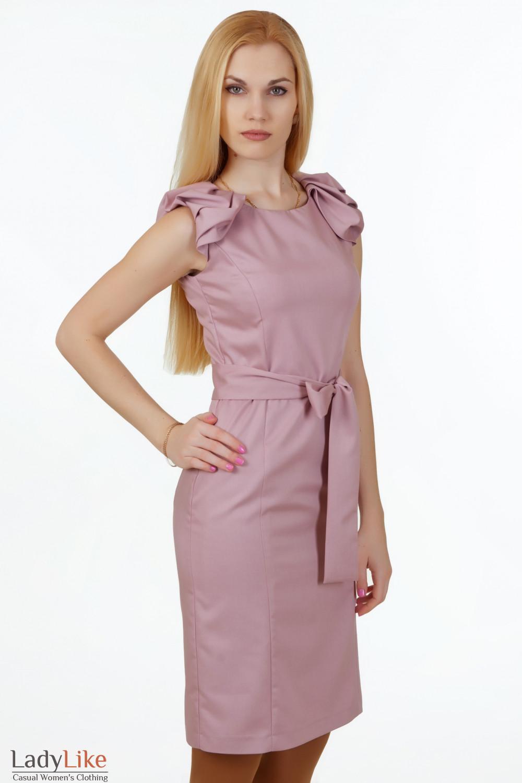 Купить платье с поясом Деловая женская одежда
