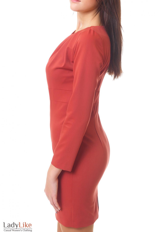 Купить рыжее платье Деловая женская одежда