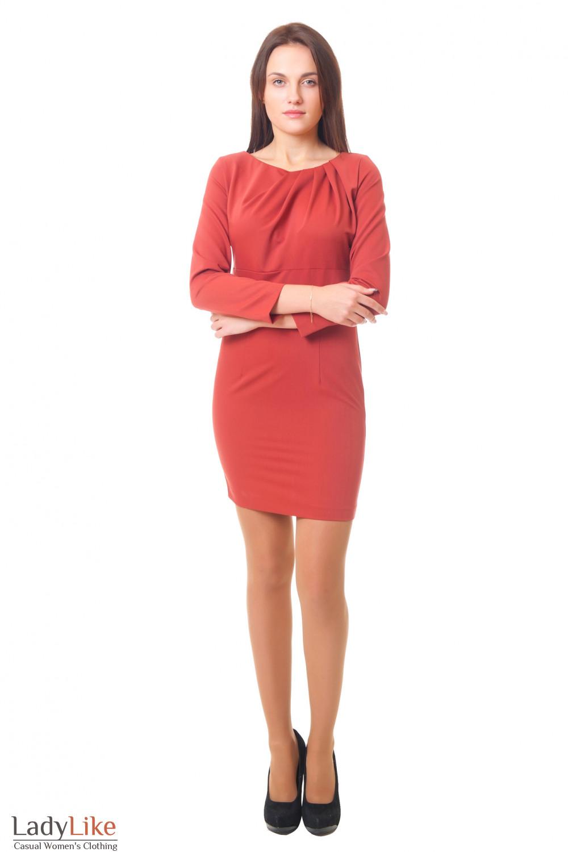 Купить деловое платье с защипами Деловая женская одежда