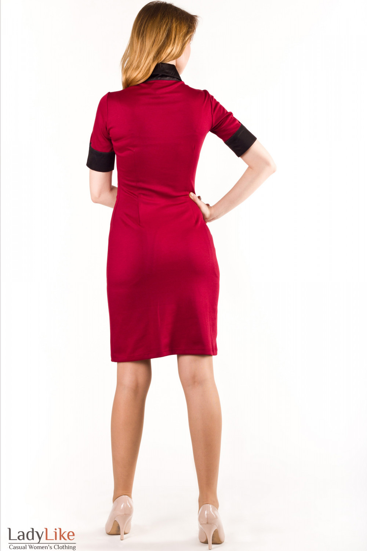 Платье бордо Деловая женская одежда