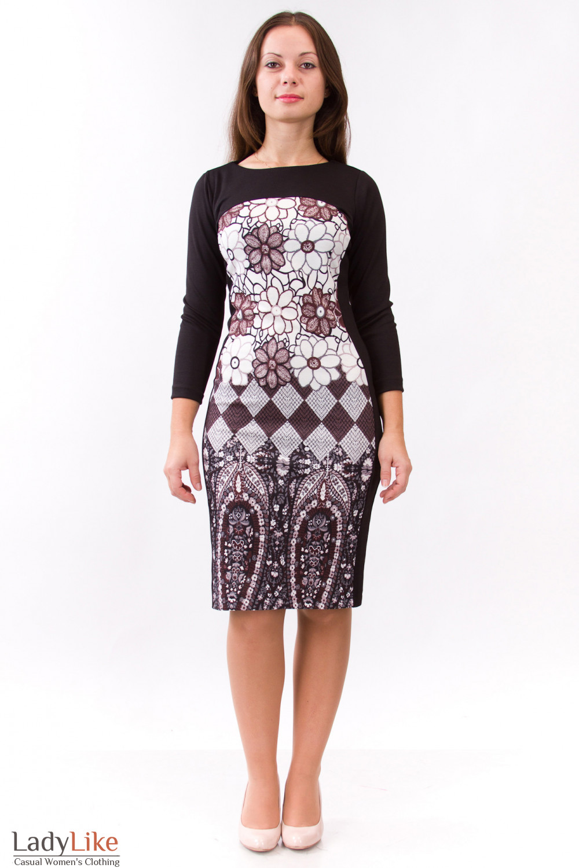 Фото Платье теплое Деловая женская одежда