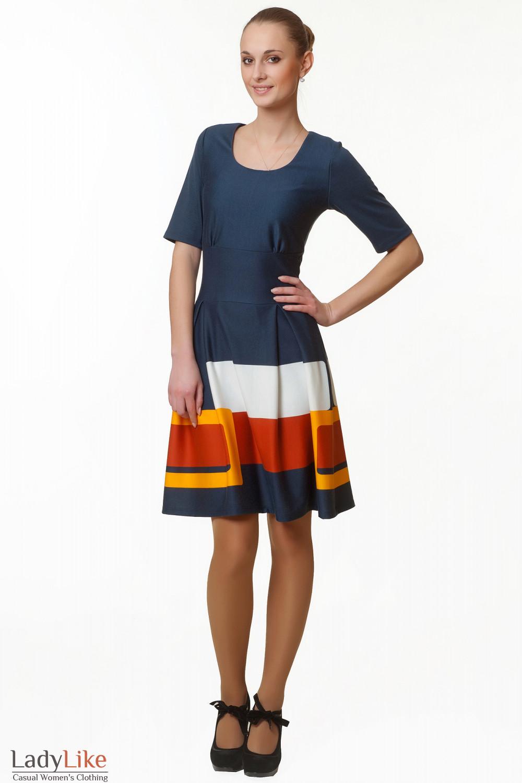 Купить платье с пышной юбкой Деловая женская одежда