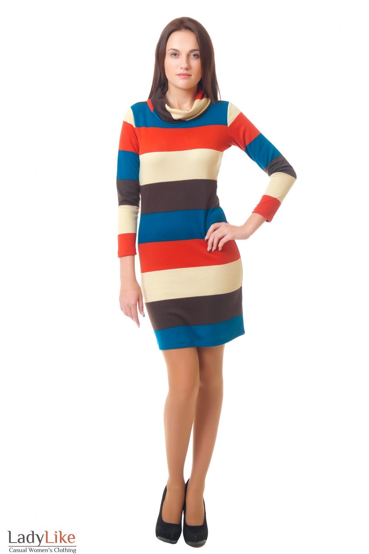 Купить трикотажное платье Деловая женская одежда