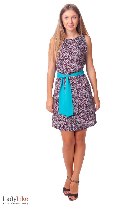 Платье с защипами у горловины Деловая женская одежда