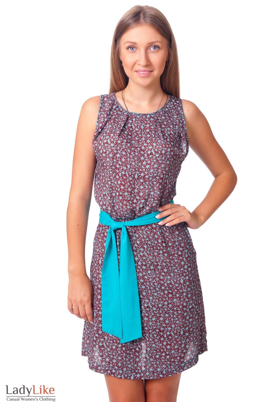 Купить летнее платье с защипами у горловины Деловая женская одежда