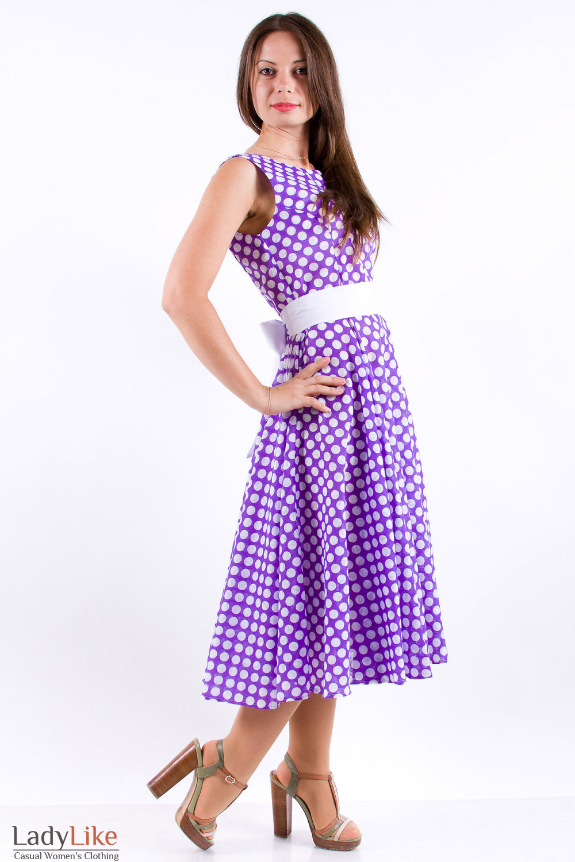 Фото Платье в горошек Деловая женская одежда