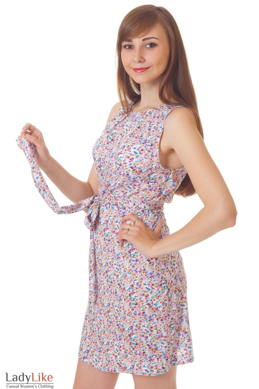 Купить летнее платье с поясом Деловая женская одежда