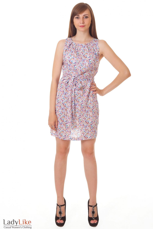 Купить легкое платье с поясом Деловая женская одежда