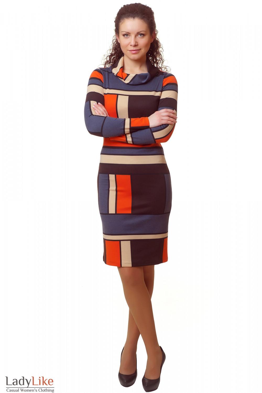Купить трикотажное деловое платье Деловая женская одежда