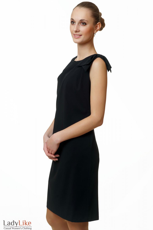 Фото Купить элегантное черное платье Деловая женская одежда