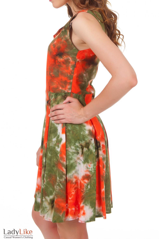 Купить платье со складками на юбке Деловая женская одежда