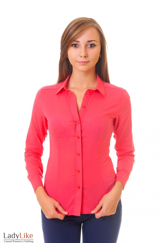 Купить коралловую рубашку Деловая женская одежда