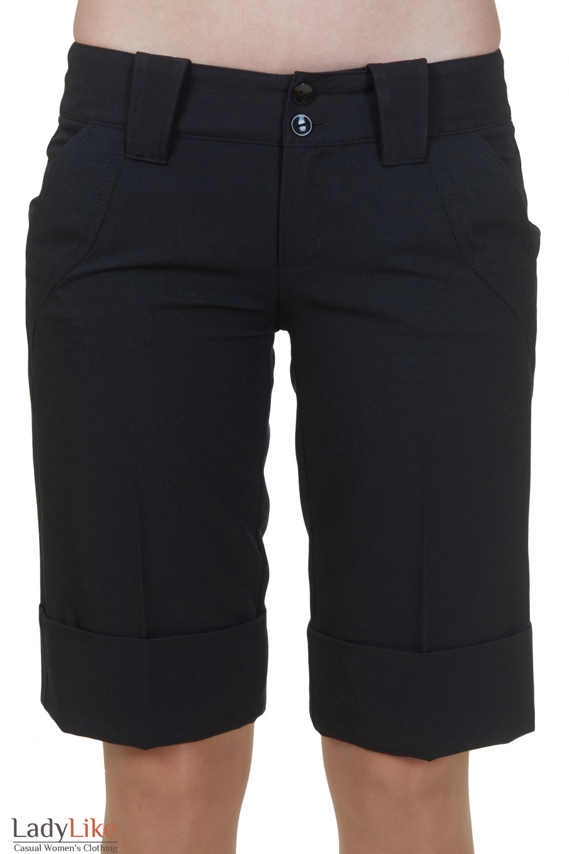 Короткие черные шорты Деловая женская одежда