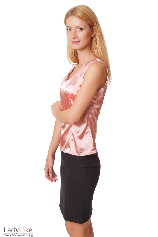Купить персиковую блузку Деловая женская одежда