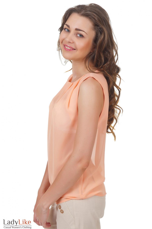 Купить персиковый топ Деловая женская одежда