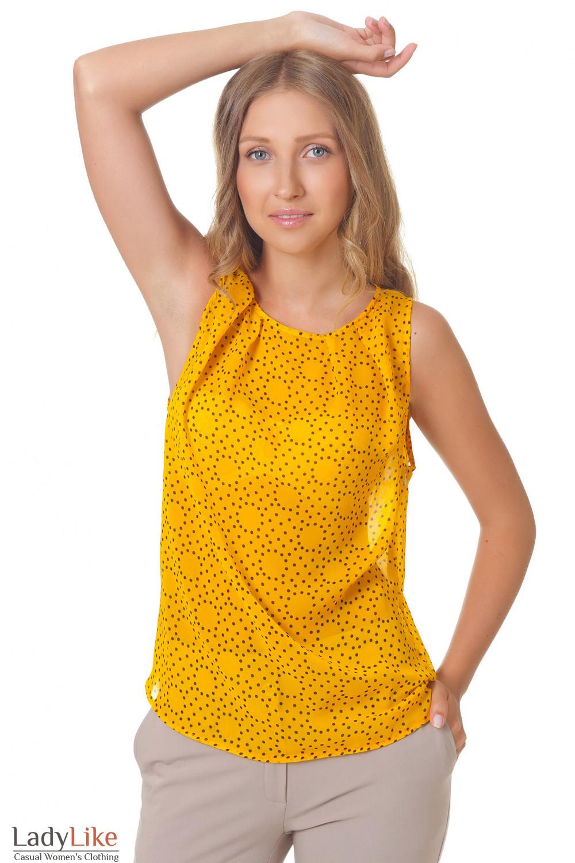 Купить желтый топ Деловая женская одежда