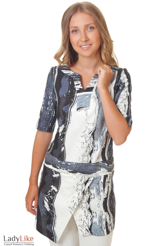Льняная туника Деловая женская одежда