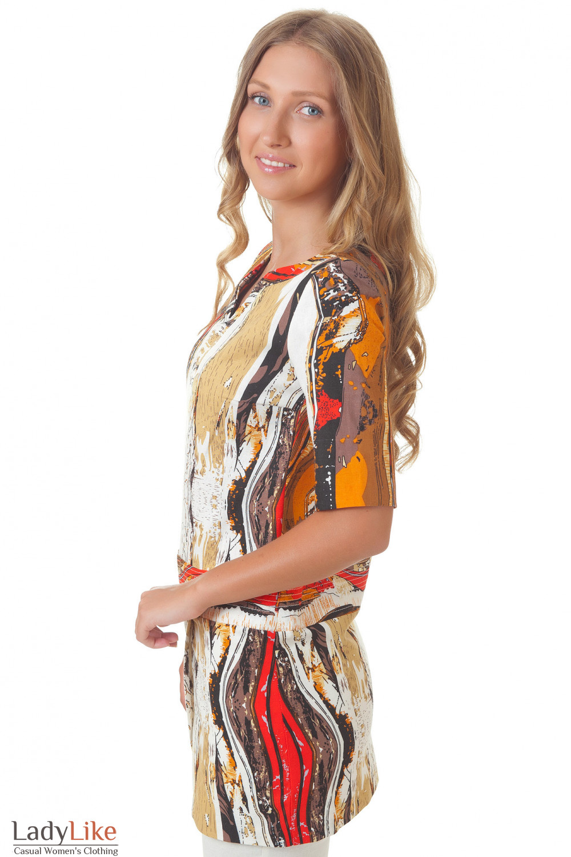 Купить льняную тунику Деловая женская одежда