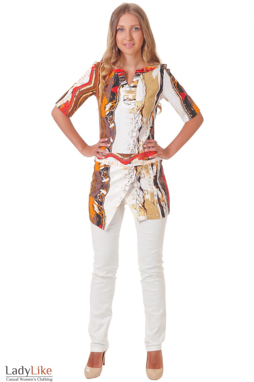 Купить цветную тунику Деловая женская одежда