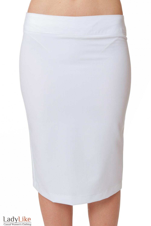 Юбка-карандаш из белого хлопка Деловая женская одежда